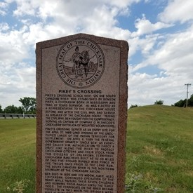 Stop and read these historical markers.  History runs deep in HD 47. Tuttle (6/21/2018).