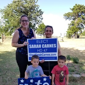 We delivered a sign to our proud and supportive friends out in West HD 47.  Tara and Jason Hatcher were amazingly welcoming and supportive.  Tara and my husband Jeramy have known each other for many years.  Thank you both for your support! (6-15-2018)