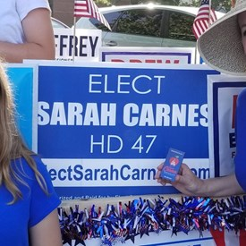 Miss Carnes and Sarah Carnes, the Freedom Festival Parade on Independence Day (July 4, 2018).