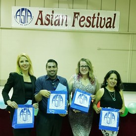 May 5, 2018 - Asia Society of Oklahoma, Inc., 32nd Annual Asian Festival.  Liliya Vasileva, Angel Aponte, Sarah Carnes, and Melly Rivera-Melendez.