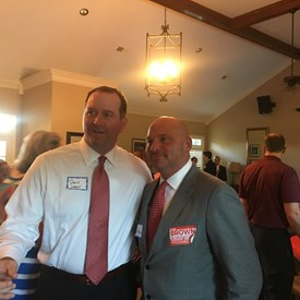 Dr. Brown with Mayoral Candidate David Lenoir