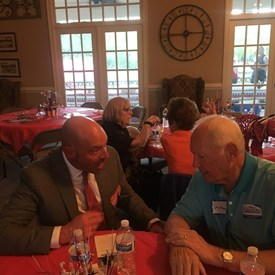 Dr. Brown visiting with some awesome REPUBLICANS