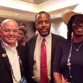 National Convention meeting with Dr. Carson, Colonel Engstrand and me.