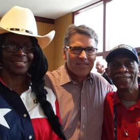 Cindy at the National Convention with former Governor Perry now Secretary of Energy Perry & Chairman Emeritus Ron Leverett (National Conference of Black Mayors)