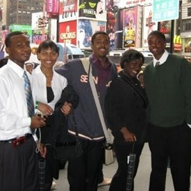 Visiting New York in 2007 with fellow Academy of Finance classmates, exploring various careers in finance, fashion, and entertainment.