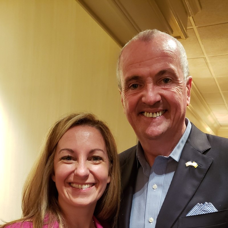 With Governor Murphy