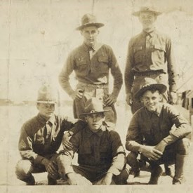 Uncle Cost, bottom row, left, 1917