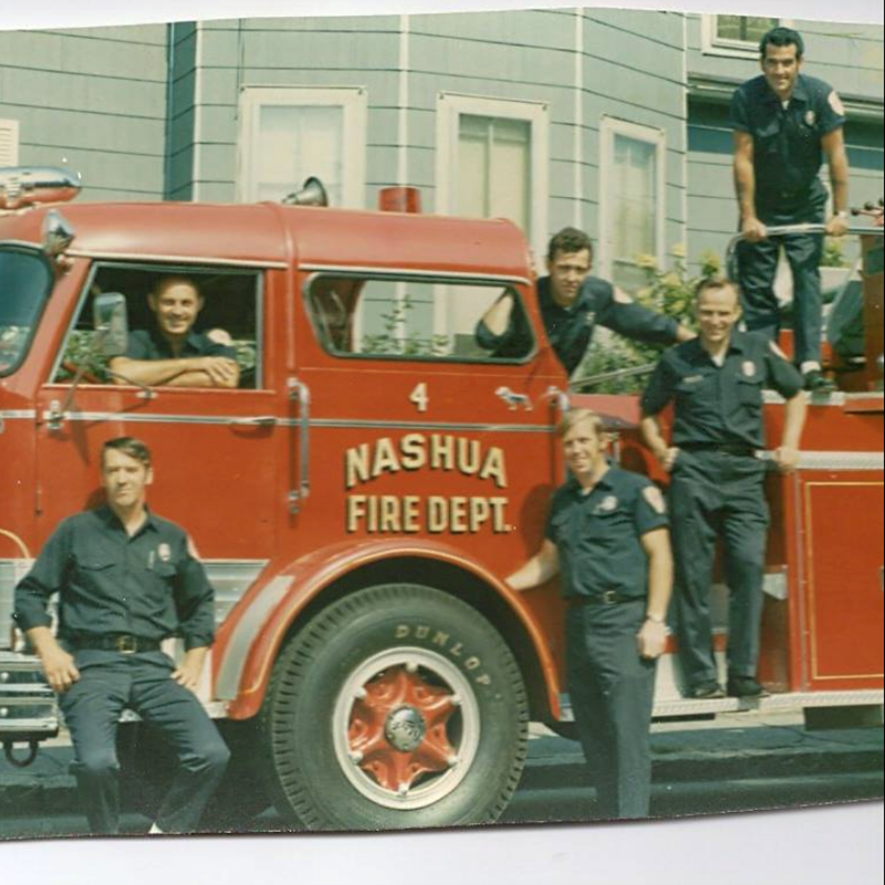 My first Nashua Fire Department crew at the Lake Street Fire Station.