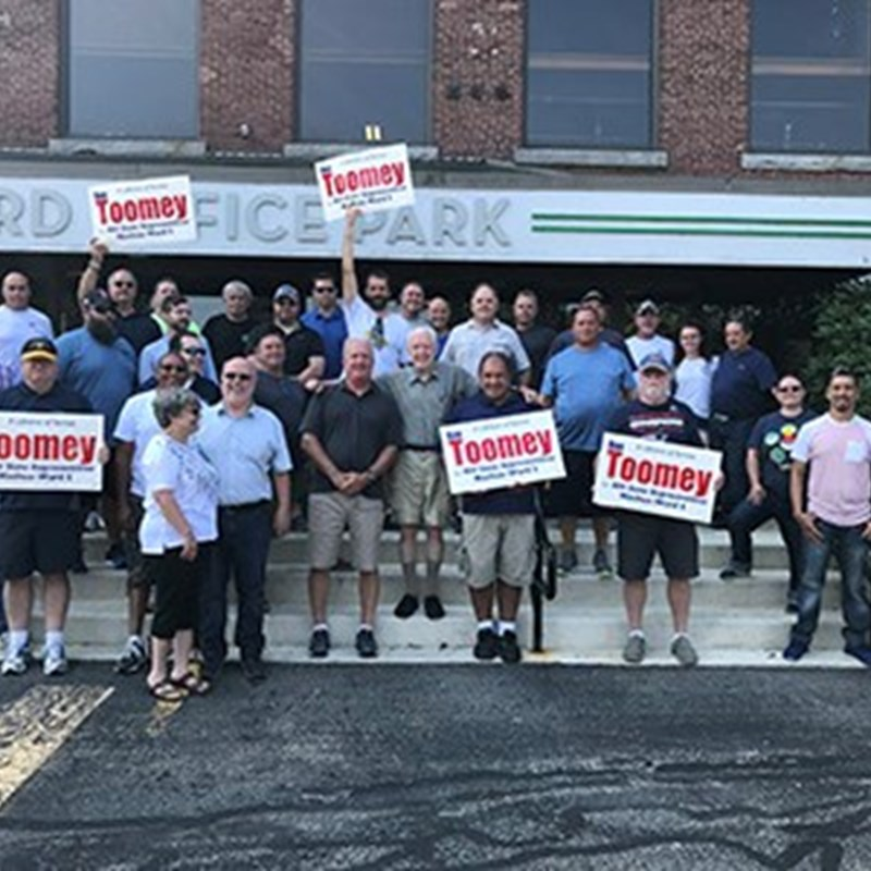 Coordinated lit drop with the IUPAT brothers and sisters from the painters and allied trades union. August 6.