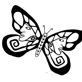 Butterfly that I designed for a community event