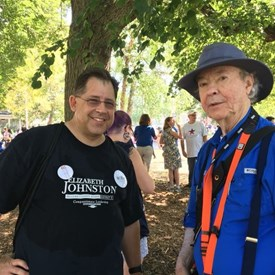 Me with Merlin Mather at the Labor Day Parade.