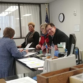 Filing my petition papers at the Bloomington Election Commission