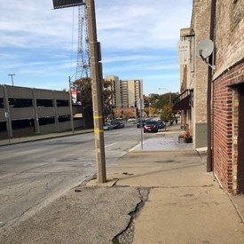 Lack of sidewalk repair in downtown Bloomington