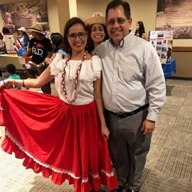 "Enjoying Hispanic Heritage Month at ISU with Marianela ""Nela"" Diaz Hidalgo."