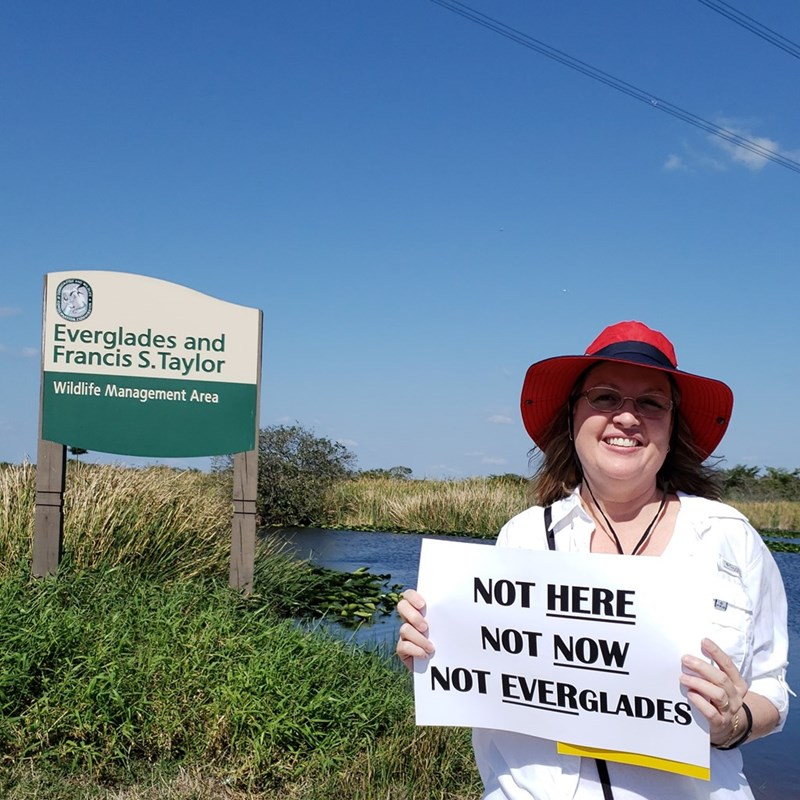 Fracking in the everglades, directly through our fresh water supply, doesn't seem like a good idea to me so I joined the protest.