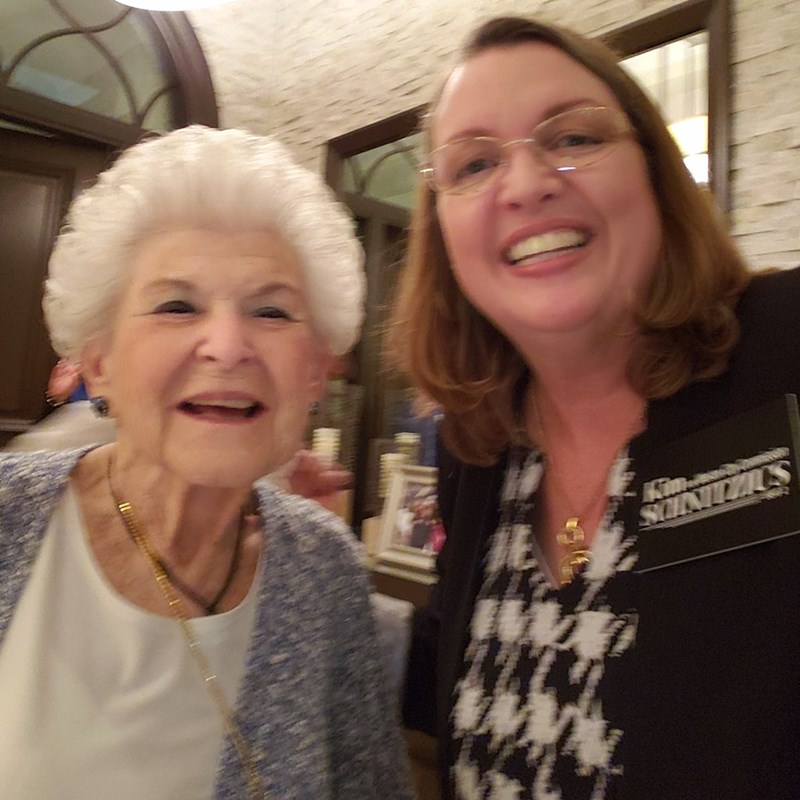 "A political event where I was able to get a picture with the ""Mother of Weston"", who was instrumental in forming our government when our city was first established."