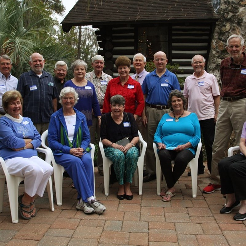 P. K. Yonge High School reunion at our home in Florida Park, Class of 1960