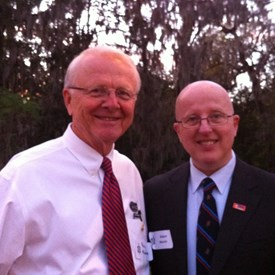 Robert with former Mayor Perry McGriff (deceased), his Rotary sponsor.