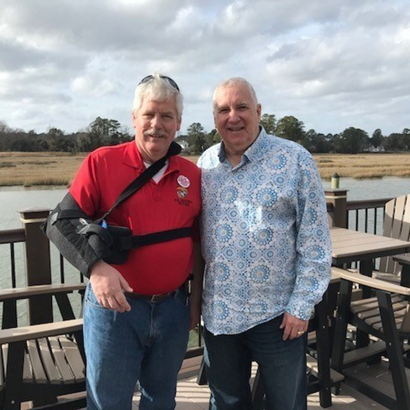 Pastor Larry Reece with John Collick