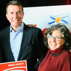 Pauline and Scott at the Liberal election launch party for the 2015 Provincial Election.