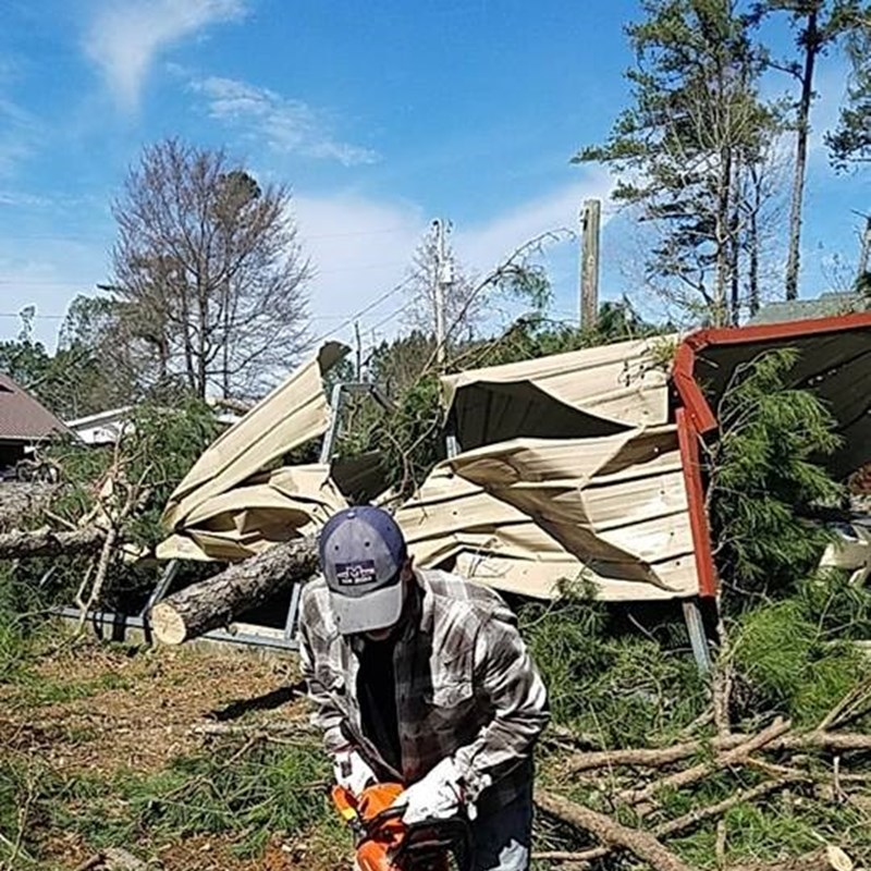 Goat Island Tornado Clean up. Please Pray for the folks at Goat Island as they continue the clean up efforts.