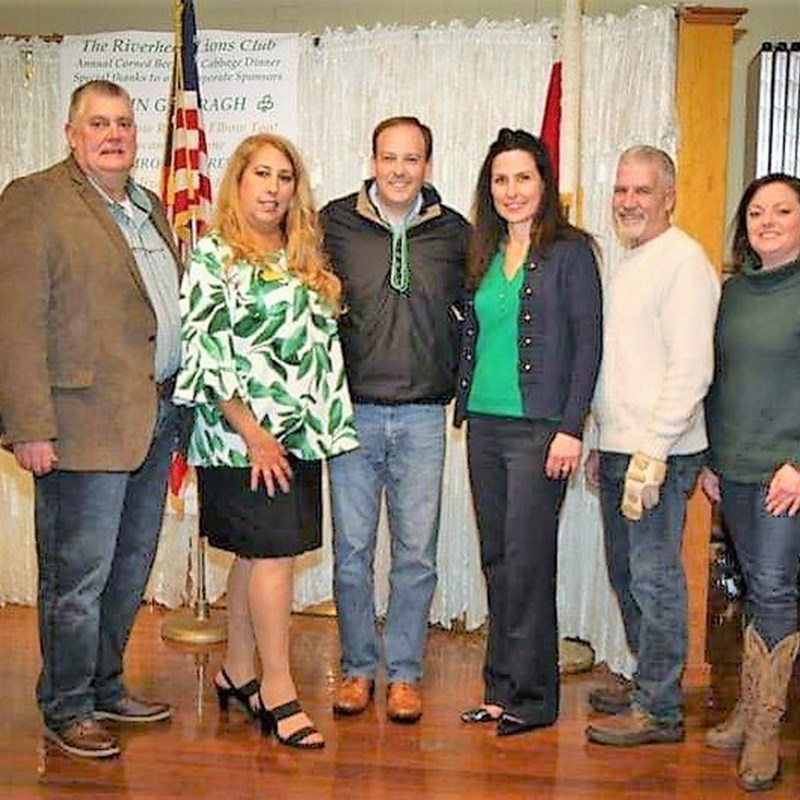 Congressman Lee Zeldin and the Riverhead Republicans' Slate at the Lions' Saint Patrick's Day Dinner