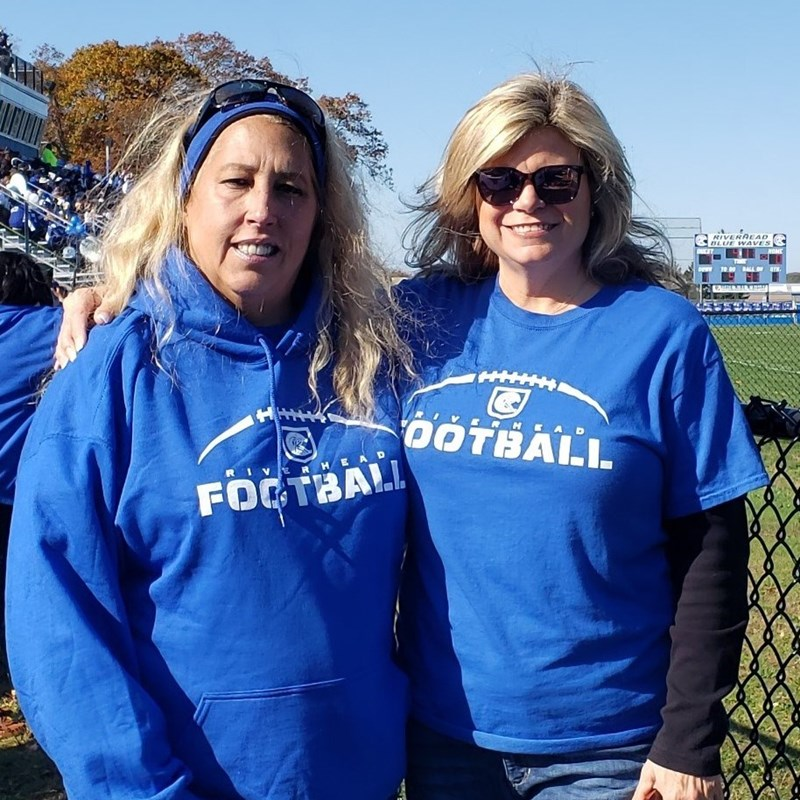 At the Riverhead Blue Waves Homecoming Game with Councilwoman Jodi Giglio.