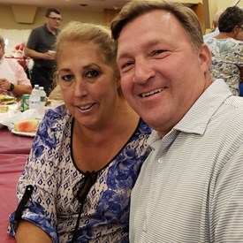 Yvette and Frank Beyrodt, candidate for Riverhead Town council at Polish National Hall Lobster Bake.