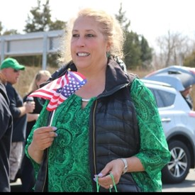 Marching in the Jamesport St. Patrick's Parade