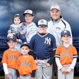 Bill has run Waltham Youth Baseball, a 500+ player little league made up of North Waltham, Little Nippers, Babe Ruth and Middle School baseball leagues, since 2012. He's here with his sons, nephews, and niece. All current (2 future) Waltham Public School students.