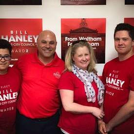 Bill and family at our campaign kick-off party at the American Legion on June 1, 2019.