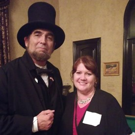 """""""Abraham Lincoln"""" and me, 9/17/2018 Celebrating our Constitution with the 917 Society."""