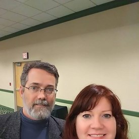 """Michael Ramey (ParentalRights.org) and me Oct. 2018 in Michigan for a """"State of the Children"""" event. I have a passion for liberty and justice and advocate for the rights of children and parents at every opportunity."""