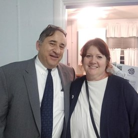 Me and Nashville's Vice-Mayor Jim Schulman at a class about advocating in our communities.
