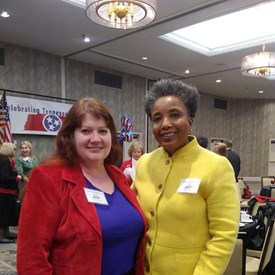 Me and Carol Swain, my choice for our next Mayor of Nashville, Ladies' Day on the Hill, April 1, 2019.