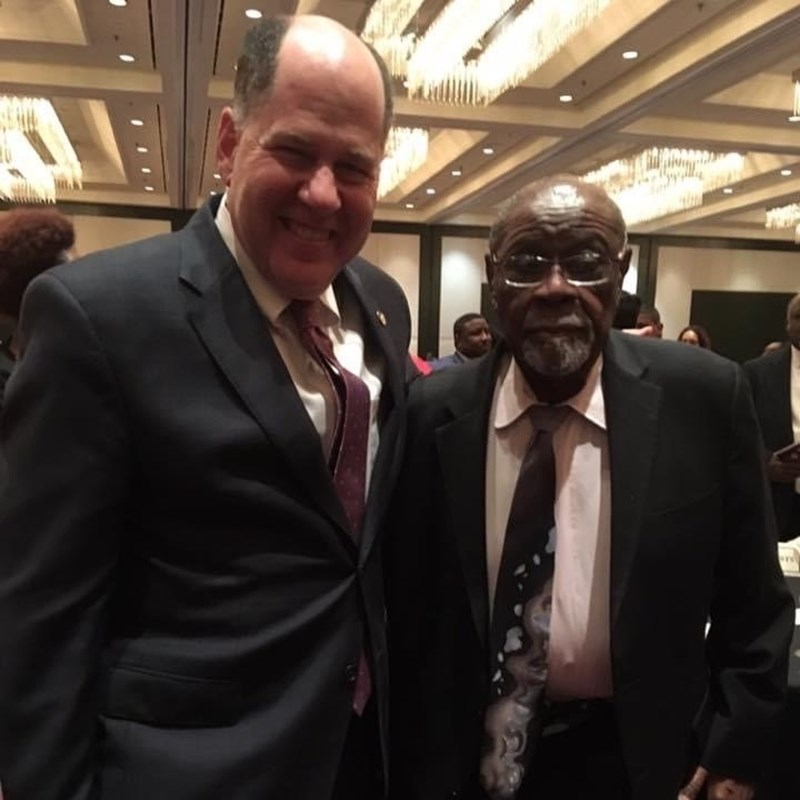 Gary with attorney Delano Stewart, a Civil Rights icon in this community.