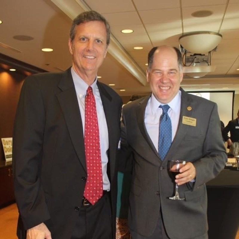 Gary with attorney Jeff Murphy, a law school classmate at the University of Florida.