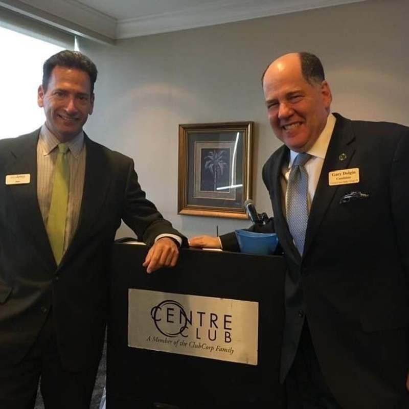 Gary with his colleague, attorney Dale Appell, a prominent personal injury attorney in Tampa.