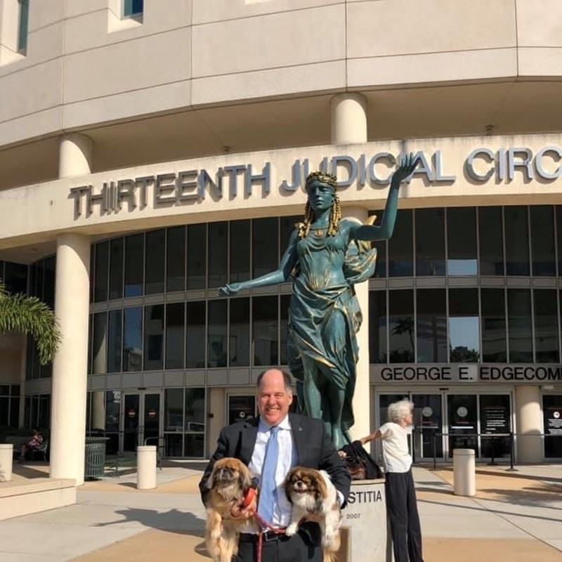 The Courthouse is not always a happy place. However, when Chester and Oliver paid a visit, there were lots of smiles.