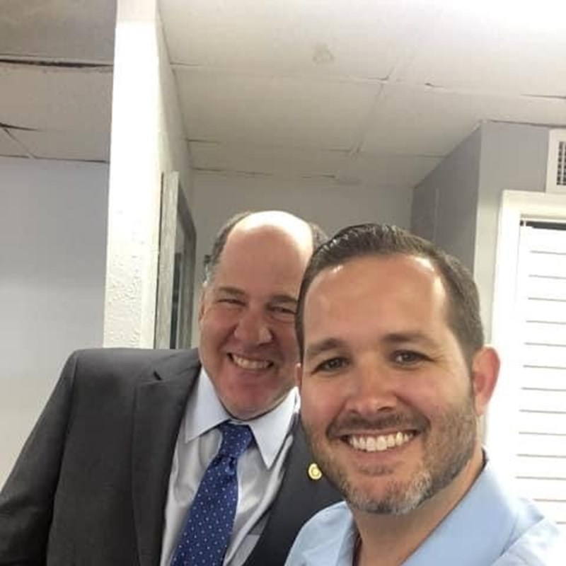 Gary with Tampa City Councilman, Guido Maniscalco. Gary is proud to have Guido's endorsement.