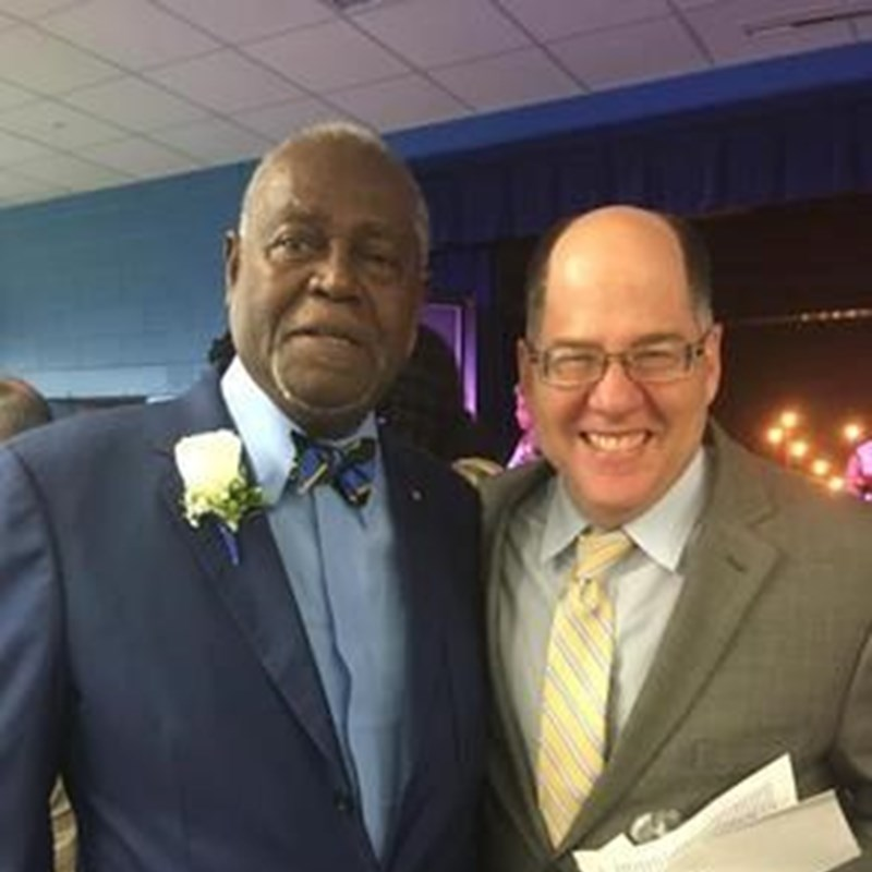 Gary was honored to be invited by civil rights activist and attorney, Warren Dawson to the opening reception for Dawson Elementary school.