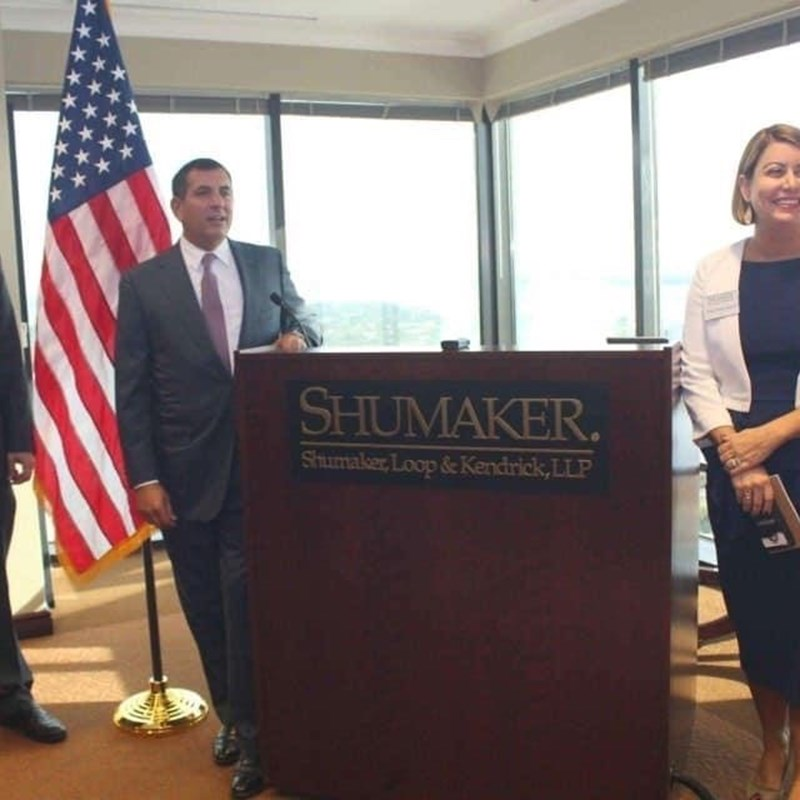 Thank you to the law firm of Shumaker Loop & Kendrick for hosting a wonderful campaign kick-off party.
