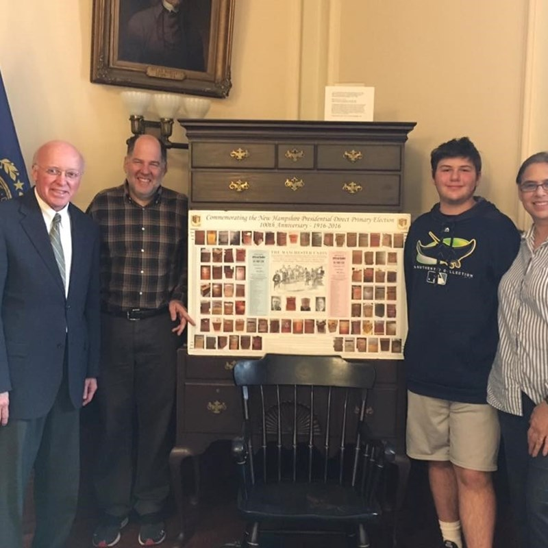 Gary with New Hampshire Secretary of State Bill Gardner. Mr. Gardner is the longest running Secretary of State in the country and has met every President since Jimmy Carter. He provided an excellent history lesson on the New Hampshire primary!