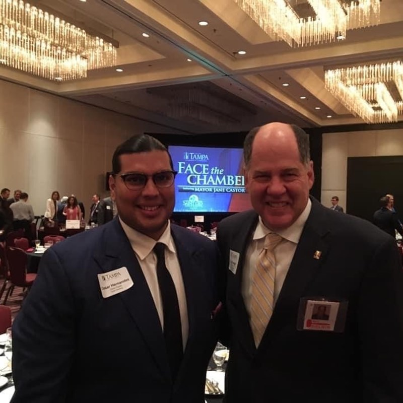 Gary with Cesar Hernandez, President of the Tampa Bay Latin Chamber of Commerce.
