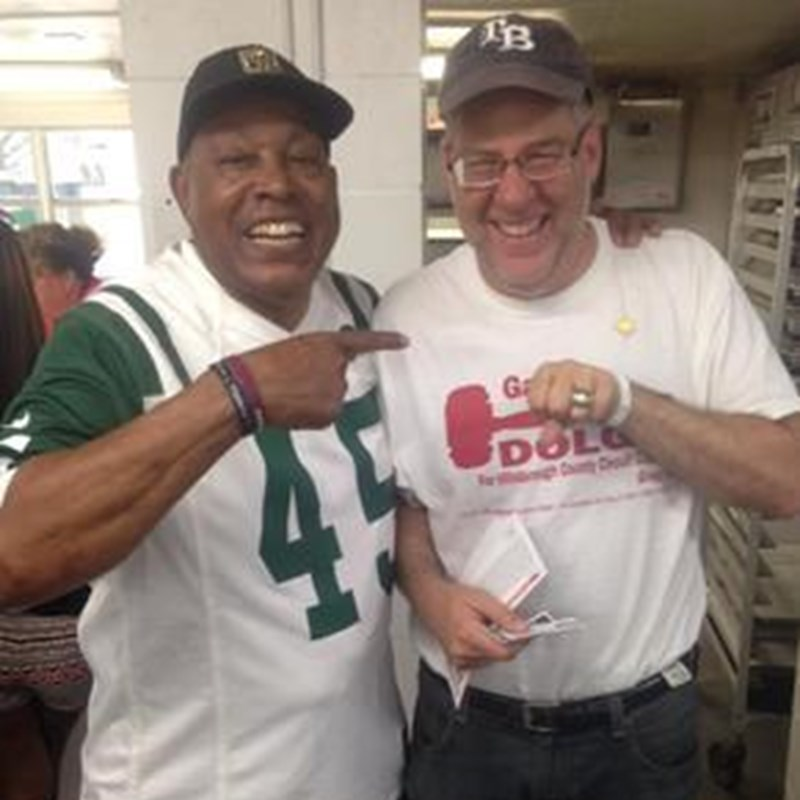 Former NFL cornerback Earl Christy of the New York Jets let Gary wear his Super Bowl ring from  Super Bowl III when Joe Namath guaranteed the 16-7 victory over the Baltimore Colts!