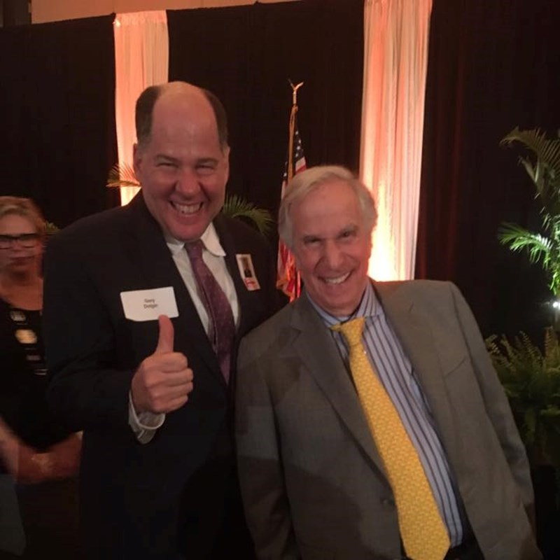 Eyyyyy! What a fantastic time meeting Hollywood legend Henry Winkler aka Fonzie from the television show Happy Days. Thank you to the Yerrid Law Firm for inviting Gary.