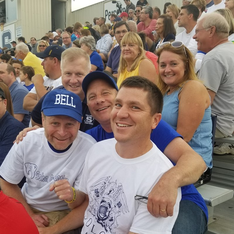 Richard Bell with Mayor Ed Kraus and friends at the Solon High School Football game Home Opener 2019.