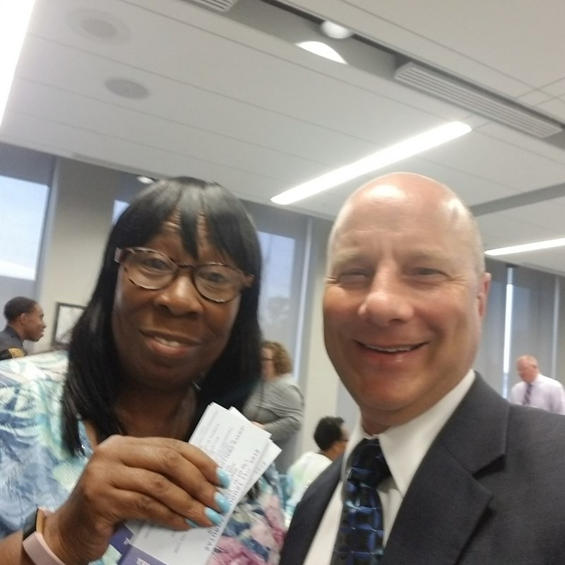With Cleveland Councilwoman Phyllis Cleveland.