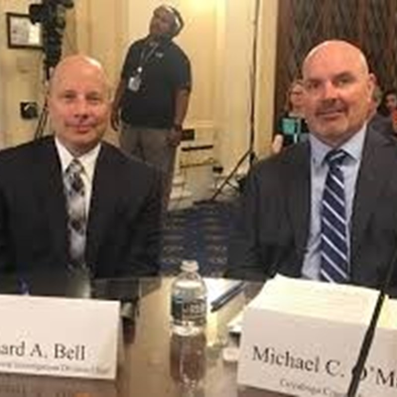 Prosecutor Mike O'Malley and me testifying before U.S. Congress' Bipartisan Committee to End Sexual Violence Against Women.