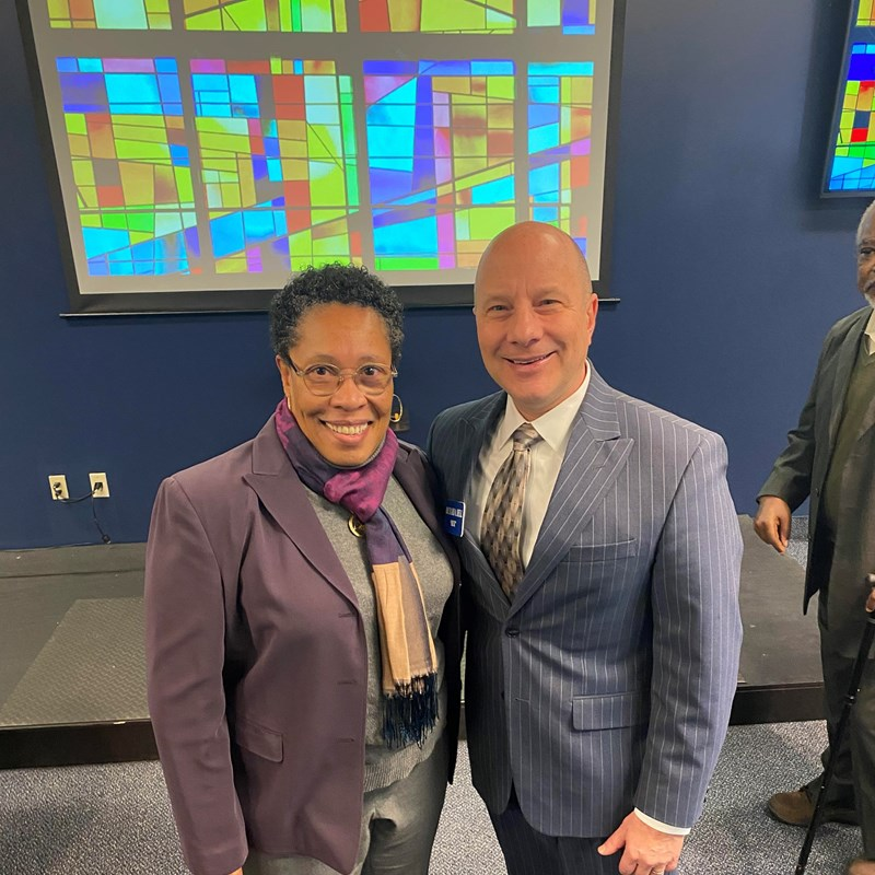Richard Bell with Marcia Fudge